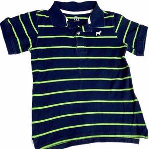 Carter's Boys Striped Polo Top Navy Size 6